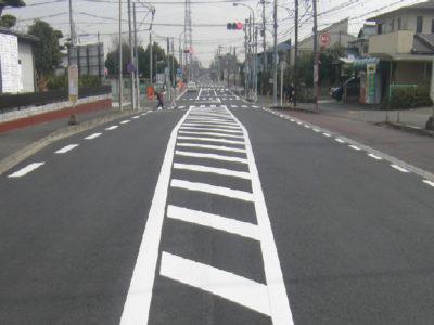 市道愛甲長谷線舗装補修工事(2017年2月)